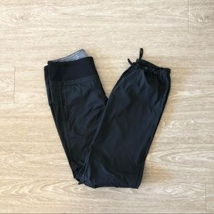Lululemon Black Nylon Jogger Pants
